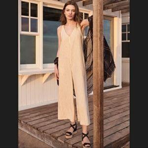 Linen rayon sleeveless jumpsuit